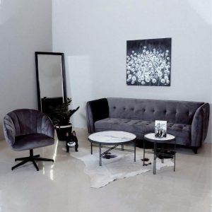 Sofa lova ANTARES 235x87x85h tamsiai pilka