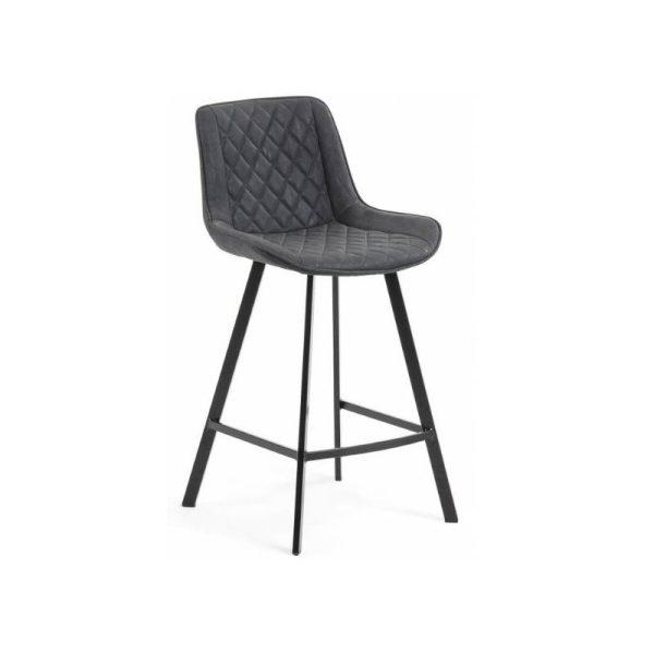Pusbario kėdė ADELA 50x53x95h tamsiai pilka