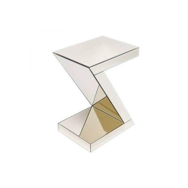 Šoninis staliukas LUXURY Z 45x33x60h šampaninis