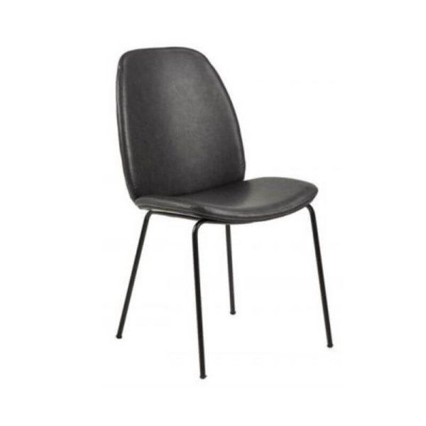 Kėdė CLOUD 48x63x87h pilkai juoda