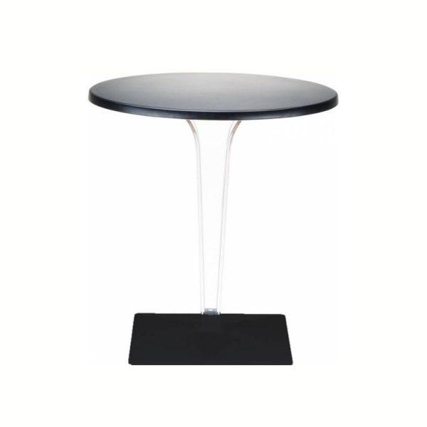 Apvalus stalas ICE Ø80x73h juodos spalvos