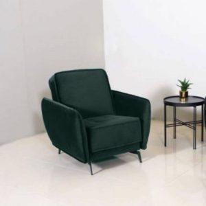 Fotelis VOGUE 86x83x85h tamsiai žalias