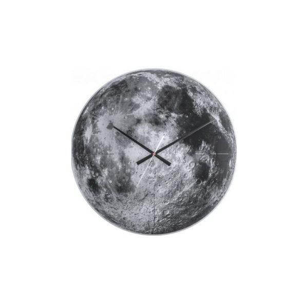 Laikrodis MOON Ø60 pilkos spalvos