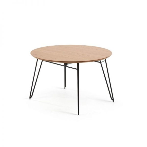 Išskleidžiamas stalas NOVAC 120(200)x120x75h šviesiai rudas