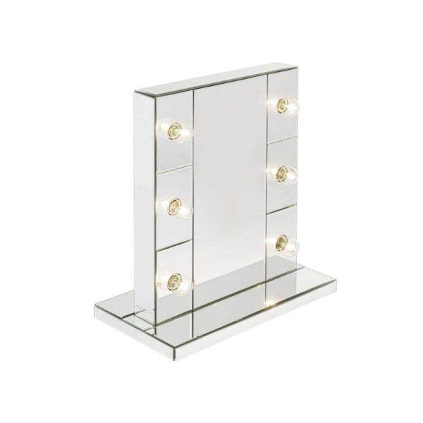 Makiažo veidrodis MAKE UP 46x25x55h baltas