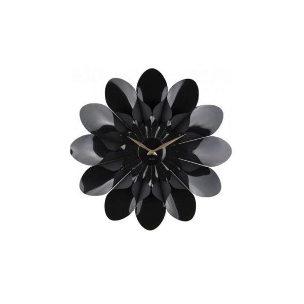 Laikrodis FLOWER Ø60 juodos spalvos