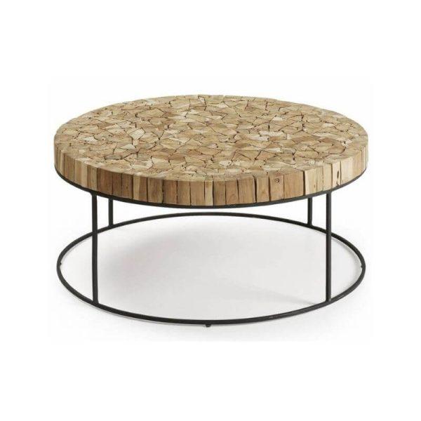 Kavos staliukas OLOS 80x35h naturalaus medžio