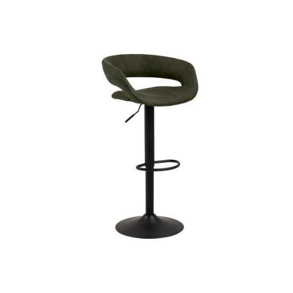 Baro kėdė GRACE 54.5x48.5x104h tamsiai žalia