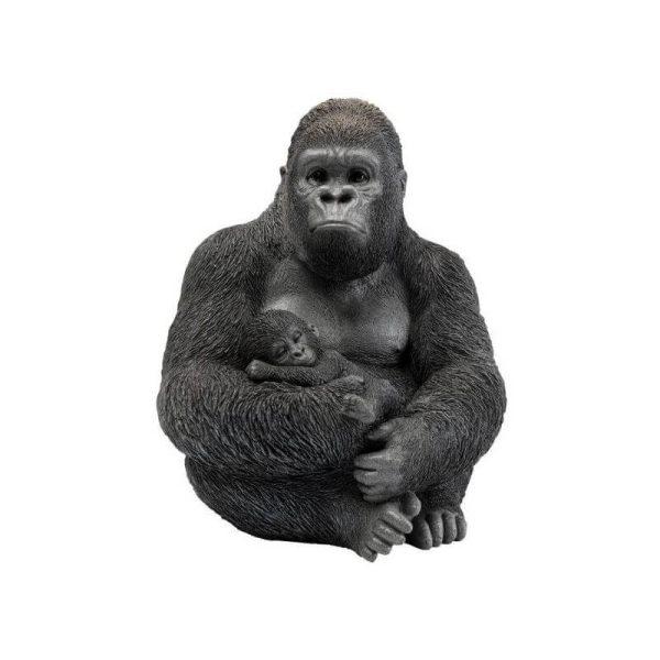Dekoracija GORILLA FAMILY 33x31x40h juoda