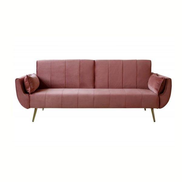 Sofa lova DIVANI II 215x91x85h rožinė