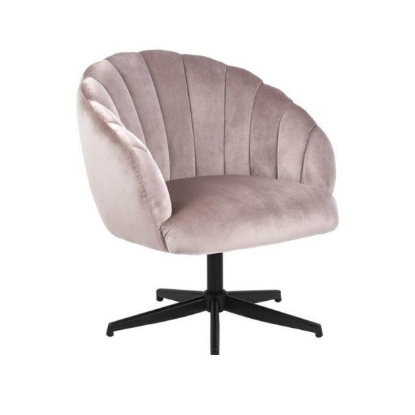Fotelis DANIELLA 76x76x84h rožinės spalvos