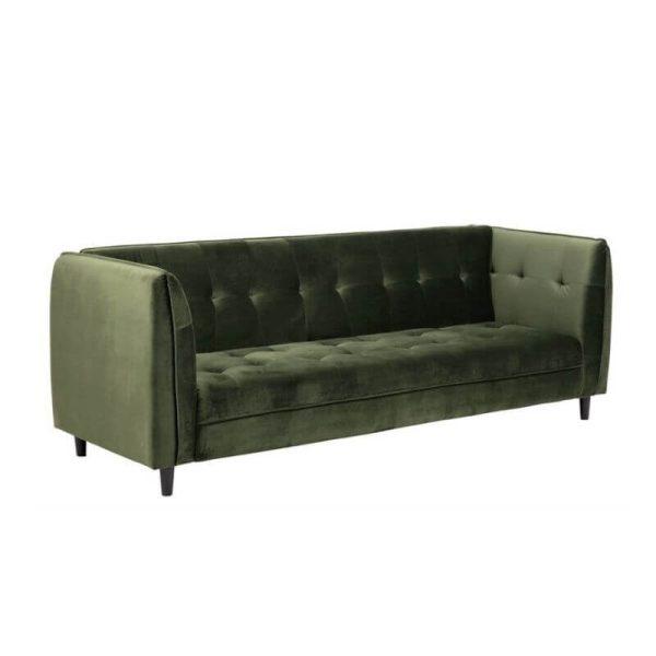 Sofa lova ANTARES 235x87x85h tamsiai žalia