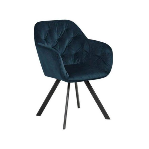 Krėsliukas DIVA 57x61x81h tamsiai mėlynas (sukasi)