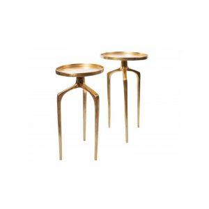 Šoniniai staliukai ABSTRACT komplektas auksiniai