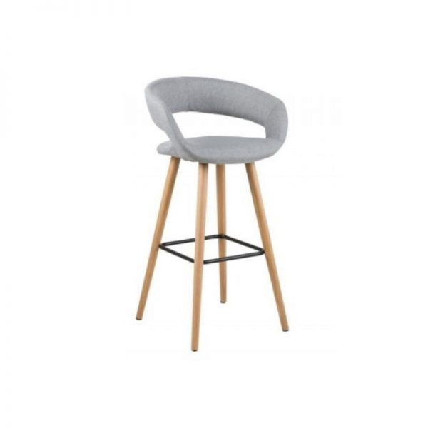 Baro kėdė GRACE 55x46.5x98h šviesiai pilka
