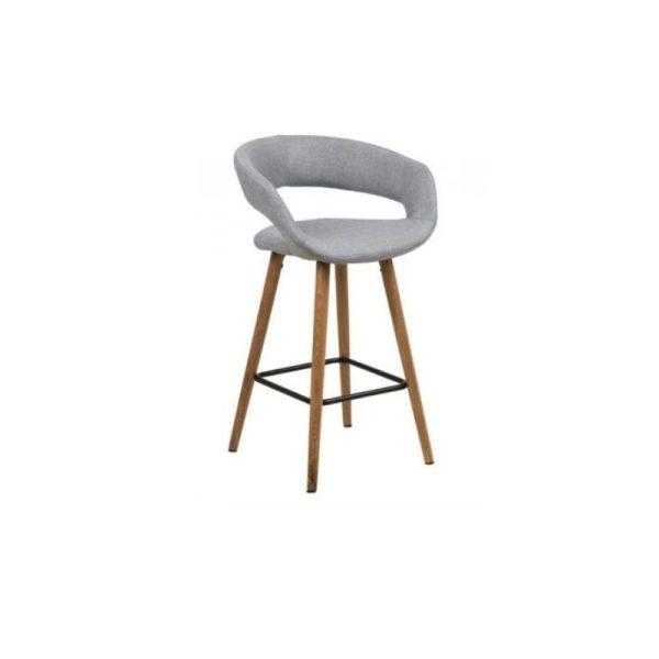 Pusbario kėdė GRACE 55x46x88h šviesiai pilka
