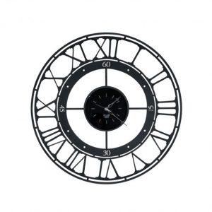 Laikrodis KOROS Ø70 juodos spalvos