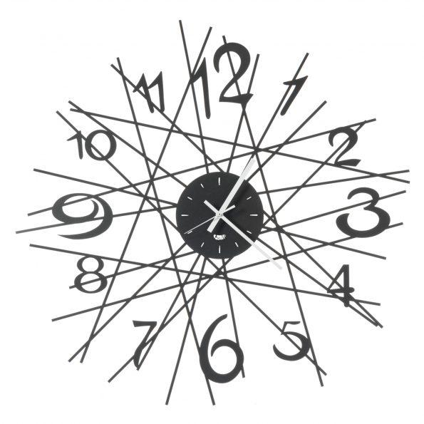 Laikrodis ZIG ZAG Ø70 juodos spalvos