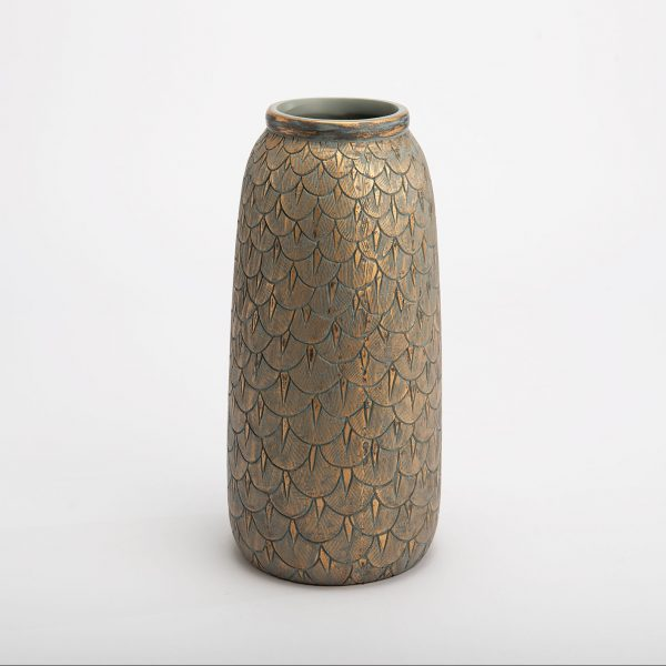 Vaza CAPUCINE 15x30h aukso ir turkio