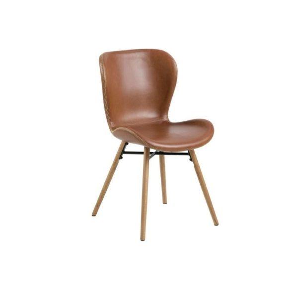 Kėdė VITA 47x53x82h konjako ruda-buko
