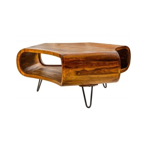 Kavos staliukas ORGANIC 60x60x46h natūralaus medžio