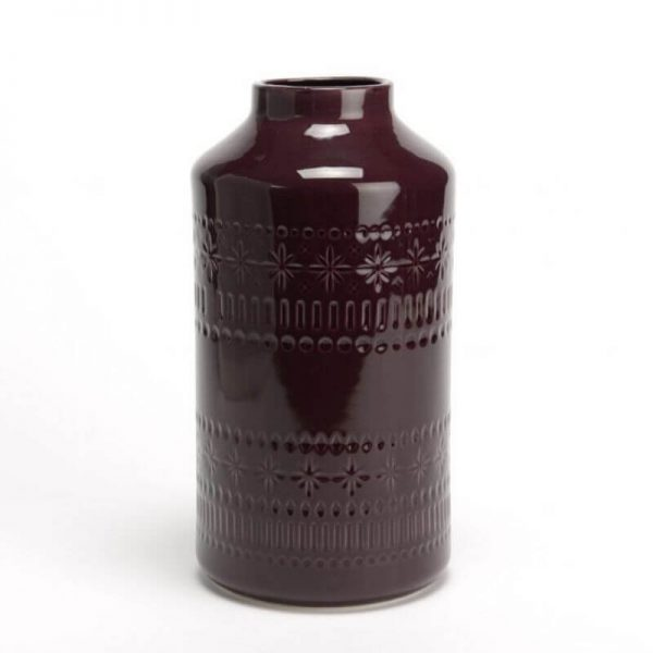 Vaza PRUNE 13x25h bordo