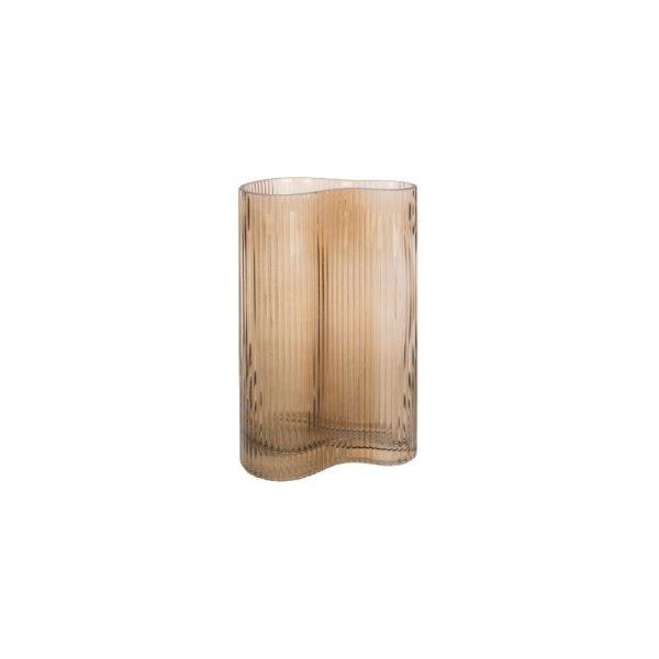 Vaza ALLURE WAVE 9.5x27h smėlio ruda