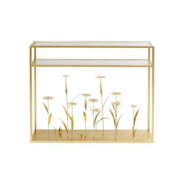 Konsolė FLOWER MEADOW GOLD 100x25x85h aukso
