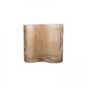 Vaza ALLURE WAVE 12x18h smėlio ruda