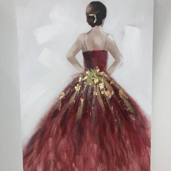 Paveikslas RED DRESS 60x90h