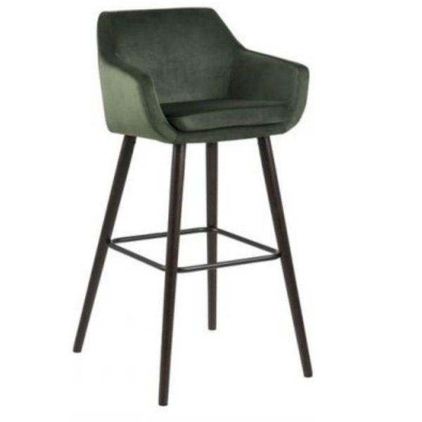 Baro kėdė NORA 55x54x101h tamsiai žalia