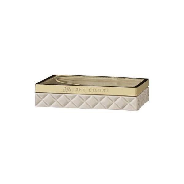Muilinė PORTIA 13x10x3h kreminė su auksu