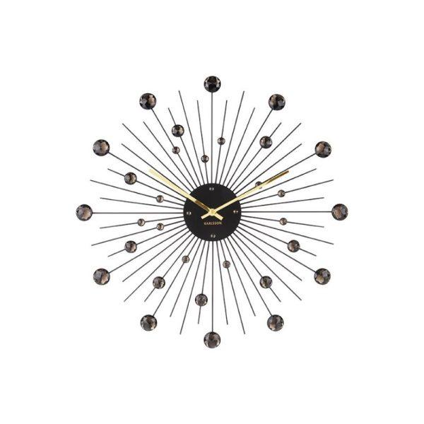 Laikrodis SUNBURST Ø50 juodos spalvos