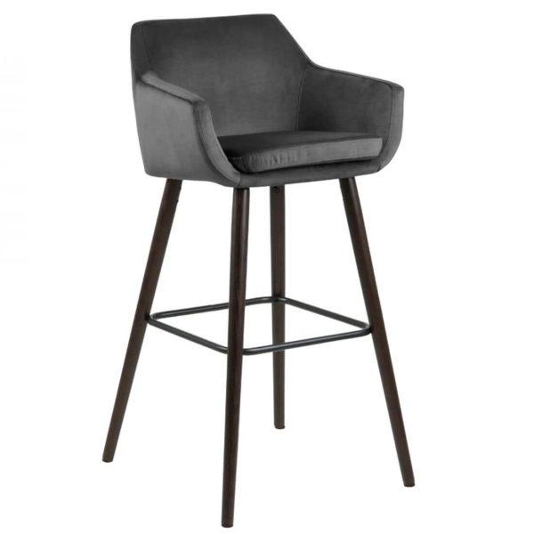 Baro kėdė NORA 55x54x101h šviesiai pilka