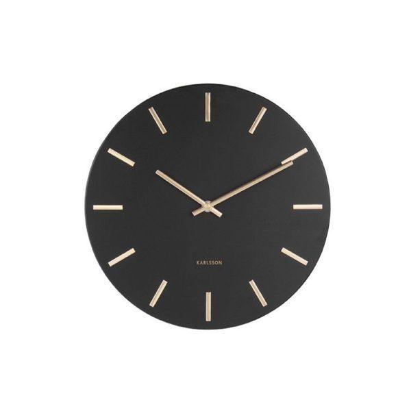 Laikrodis CHARM Ø30 metalinis juodas