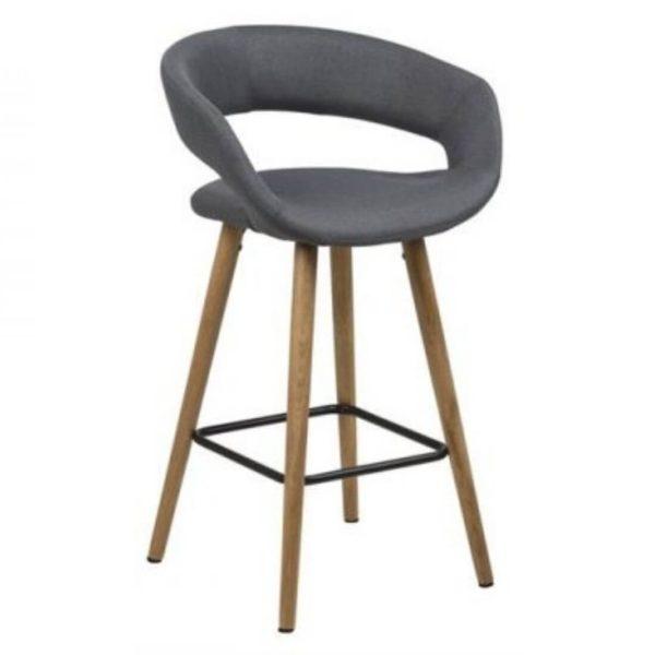 Pusbario kėdė GRACE 55x46x88h pilka