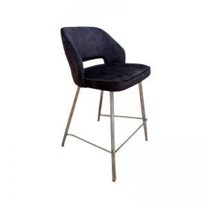 Pusbario kėdė UNA 46x62x88h rudai pilka