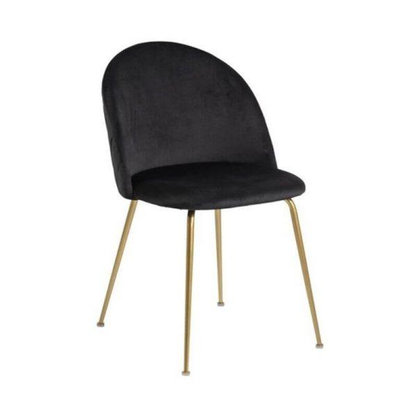 Kėdė RETRO 50x54x81h juoda su auksu