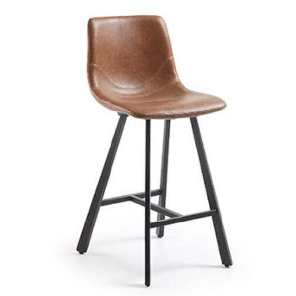 Pusbario kėdė TRAC 43x55x92h konjako ruda