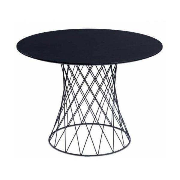 Apvalus stalas RETE Ø105x75h wenge ąžuolo faneruotė