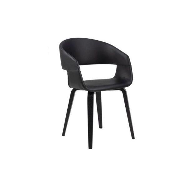 Kėdė NOVA 49.5x52.5x77h PU juoda