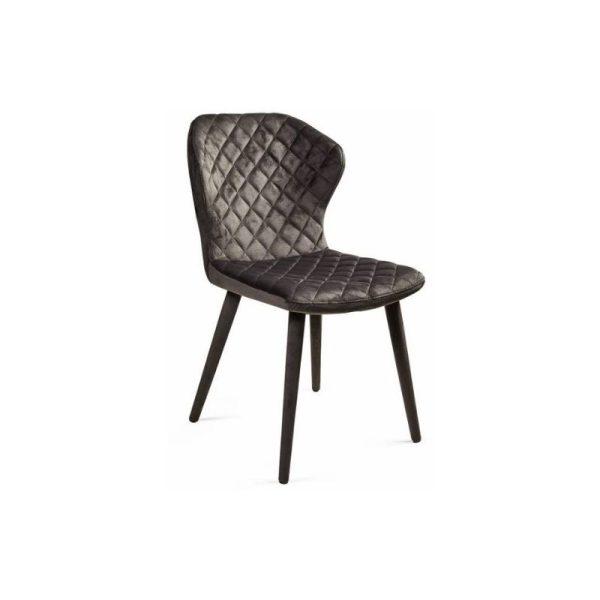 Kėdė BONNY 60x51x88h tamsiai pilkas aksomas