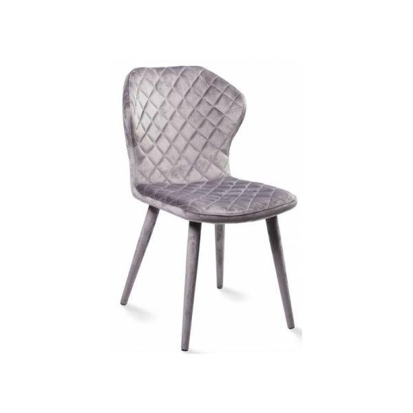 Kėdė BONNY 60x51x88h šviesiai pilkas aksomas