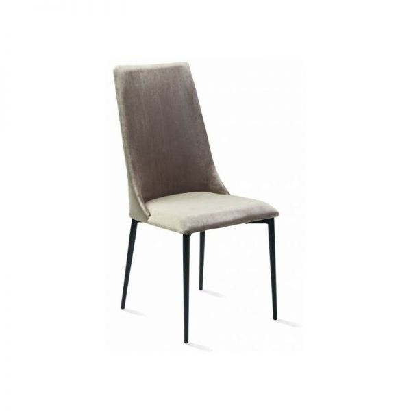 Kėdė HELENA 46x60x102h šviesiai rudas veliūras