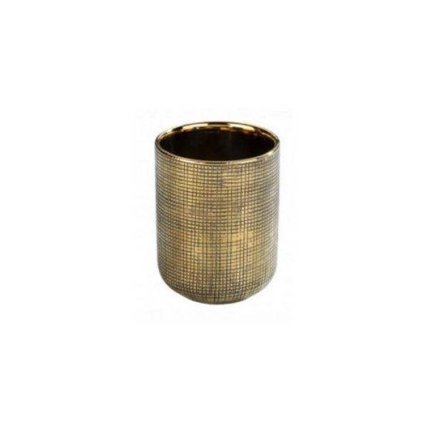 Dantų šepetėlių indas RIVARA ø7.5x9.5h sendinto aukso