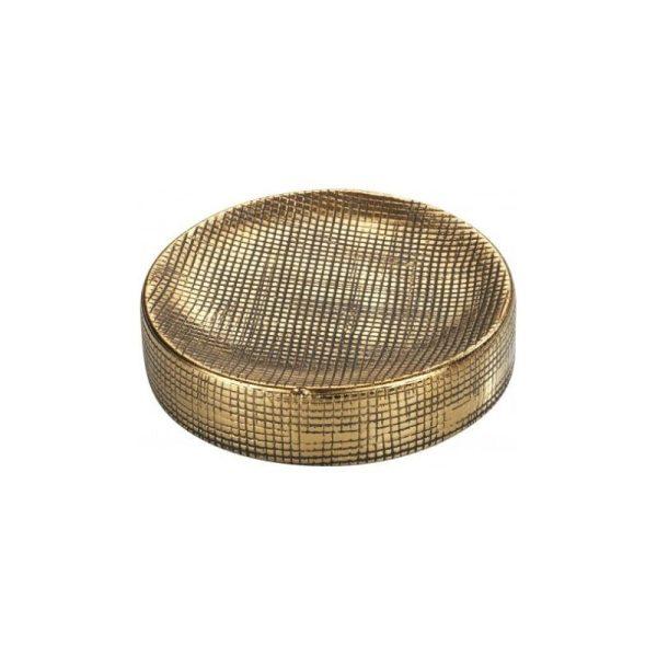 Muilinė RIVARA ø10x2.5h sendinto aukso spalvos