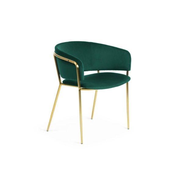 Krėsliukas KONNIE 58x58x73h smaragdo žalios spalvos