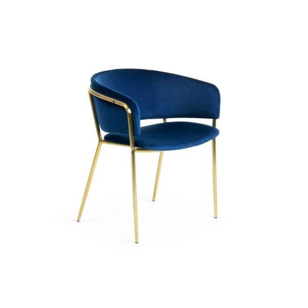 Krėsliukas KONNIE 58x58x73h rašalo mėlynos spalvos
