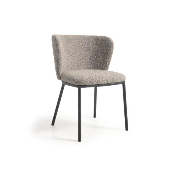Kėdė CISELIA 55x52x75h šviesiai pilka