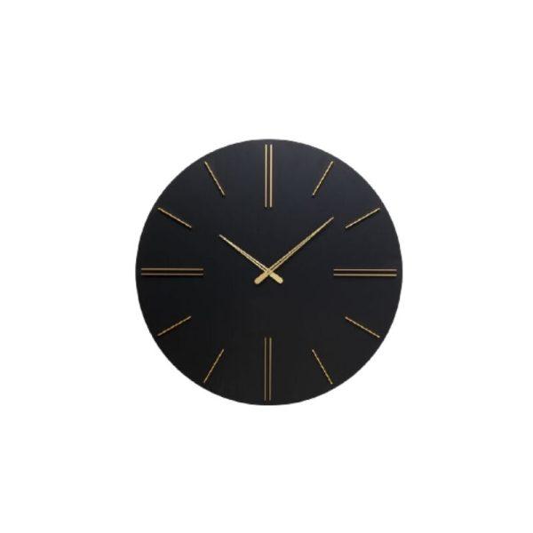 Laikrodis LUCA Ø70 metalinis juodas